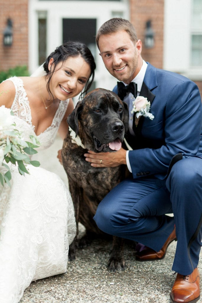 Millennial Bride and Groom in Pet friendly Wedding