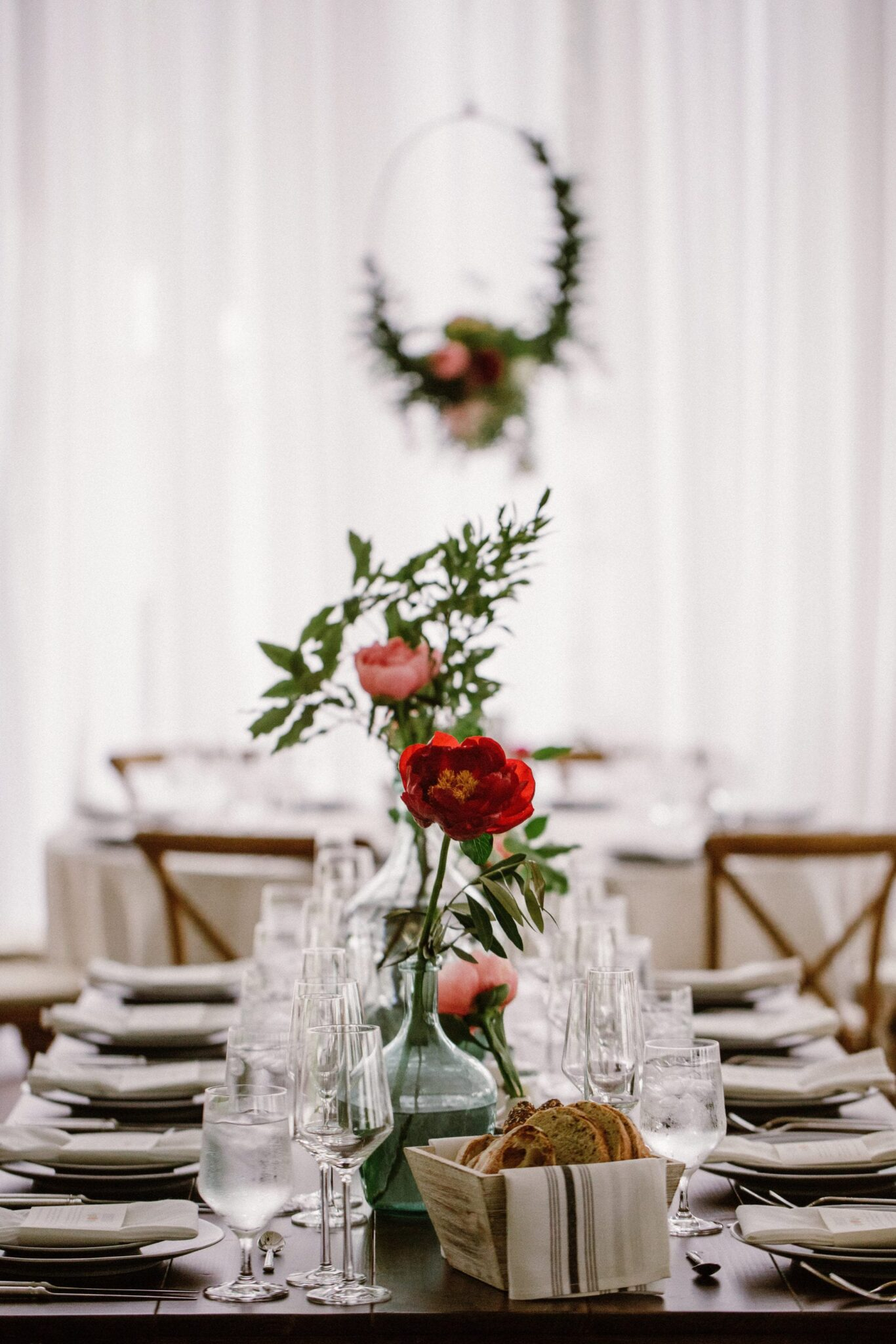 A Starry Night in New England Luxury Wedding floral swag by Jaclyn Watson Events