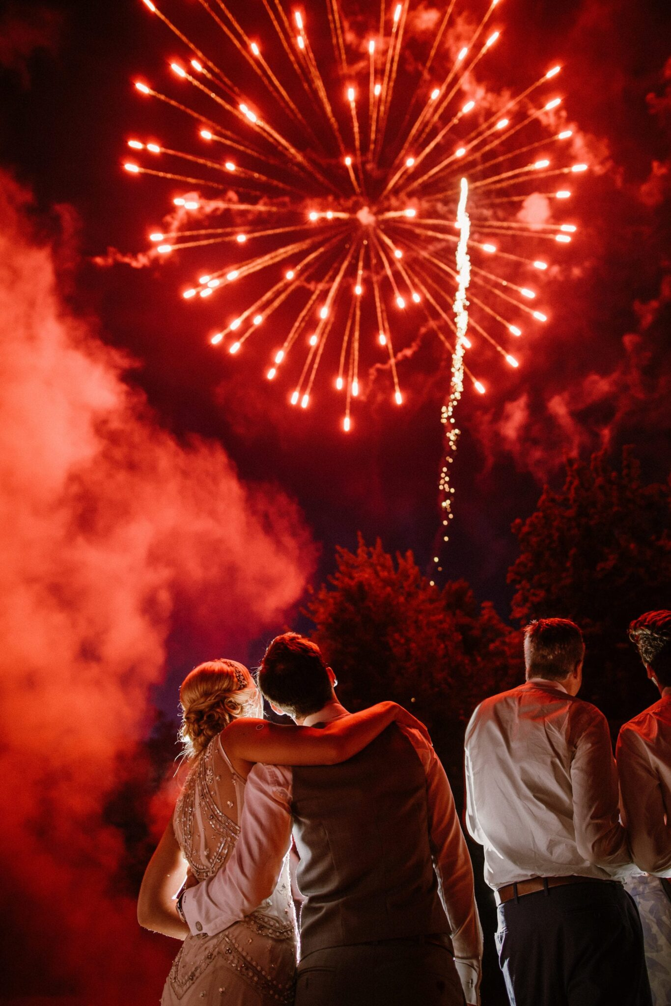 A Starry Night in New England Luxury wedding planning epic fireworks display