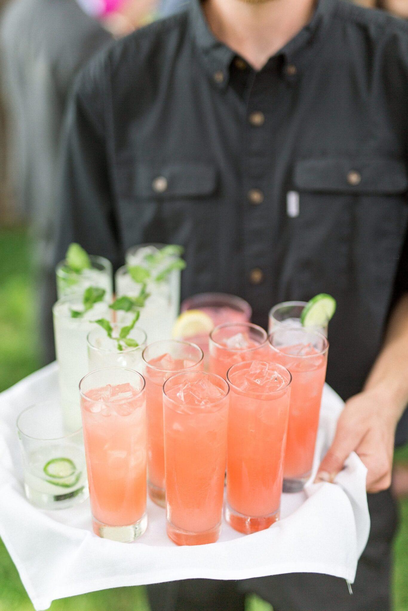 Chandlier heaven with pink lemonade new England weddings