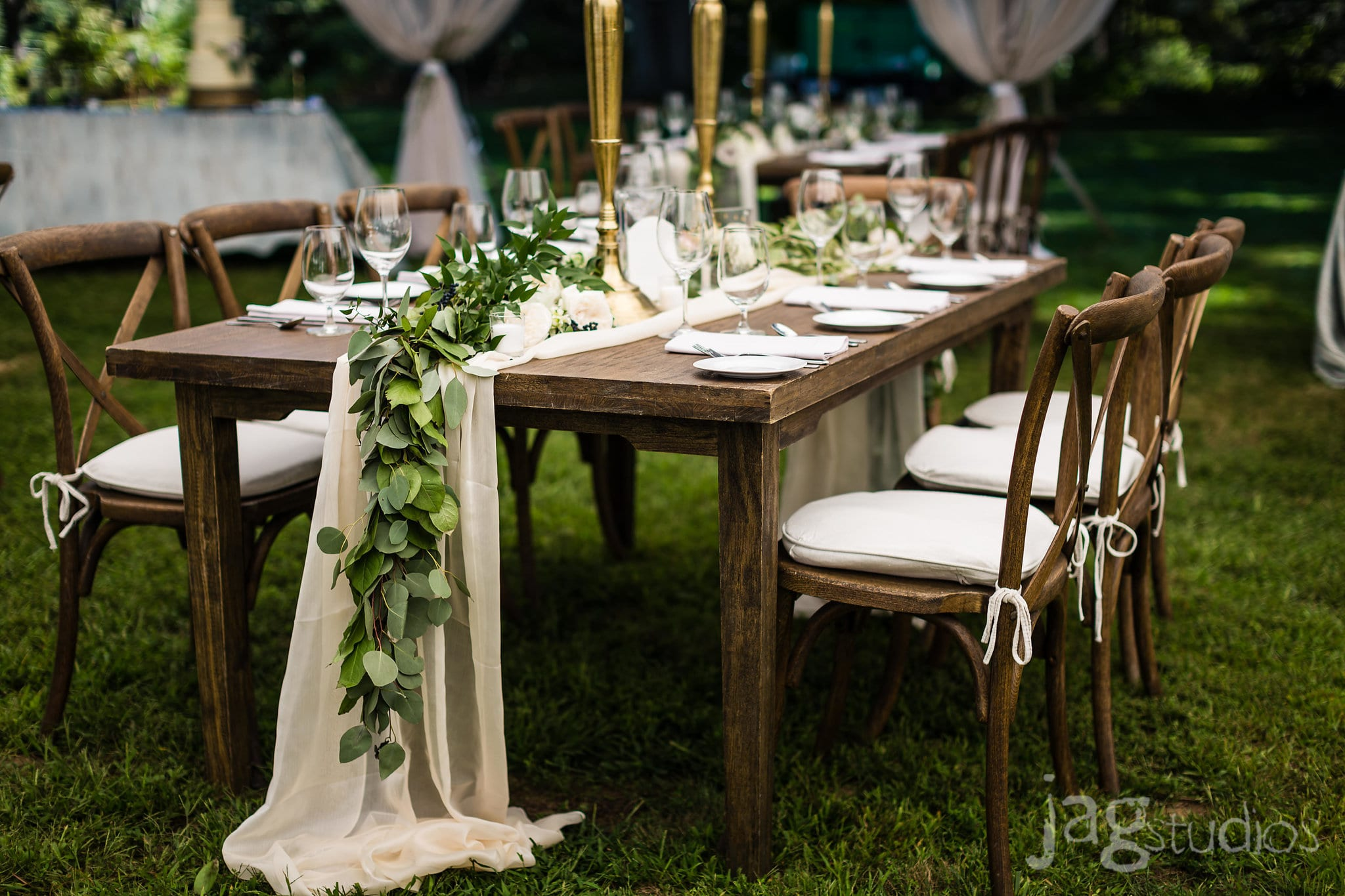 A Midnight Summer Dream chiffon runner luxury New England Wedding Jaclyn Watson Events