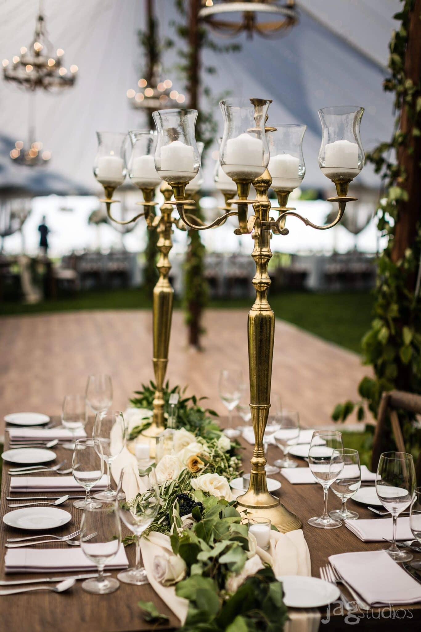 A Midnight Summer Dream gold chandeliers luxury New England Wedding Jaclyn Watson Events