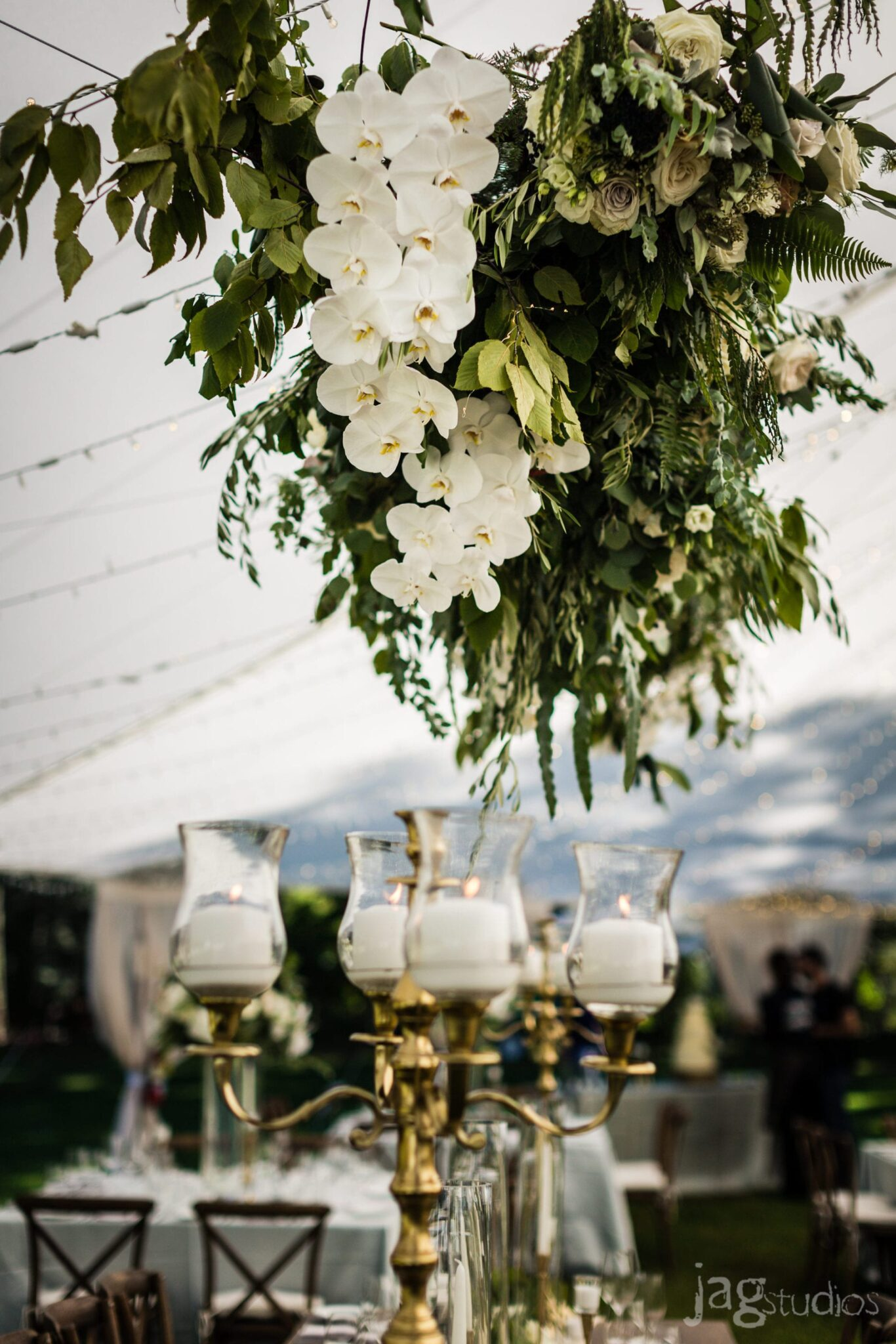 Luxury Weddings in New England & Destinations Worldwide Hanging orchids