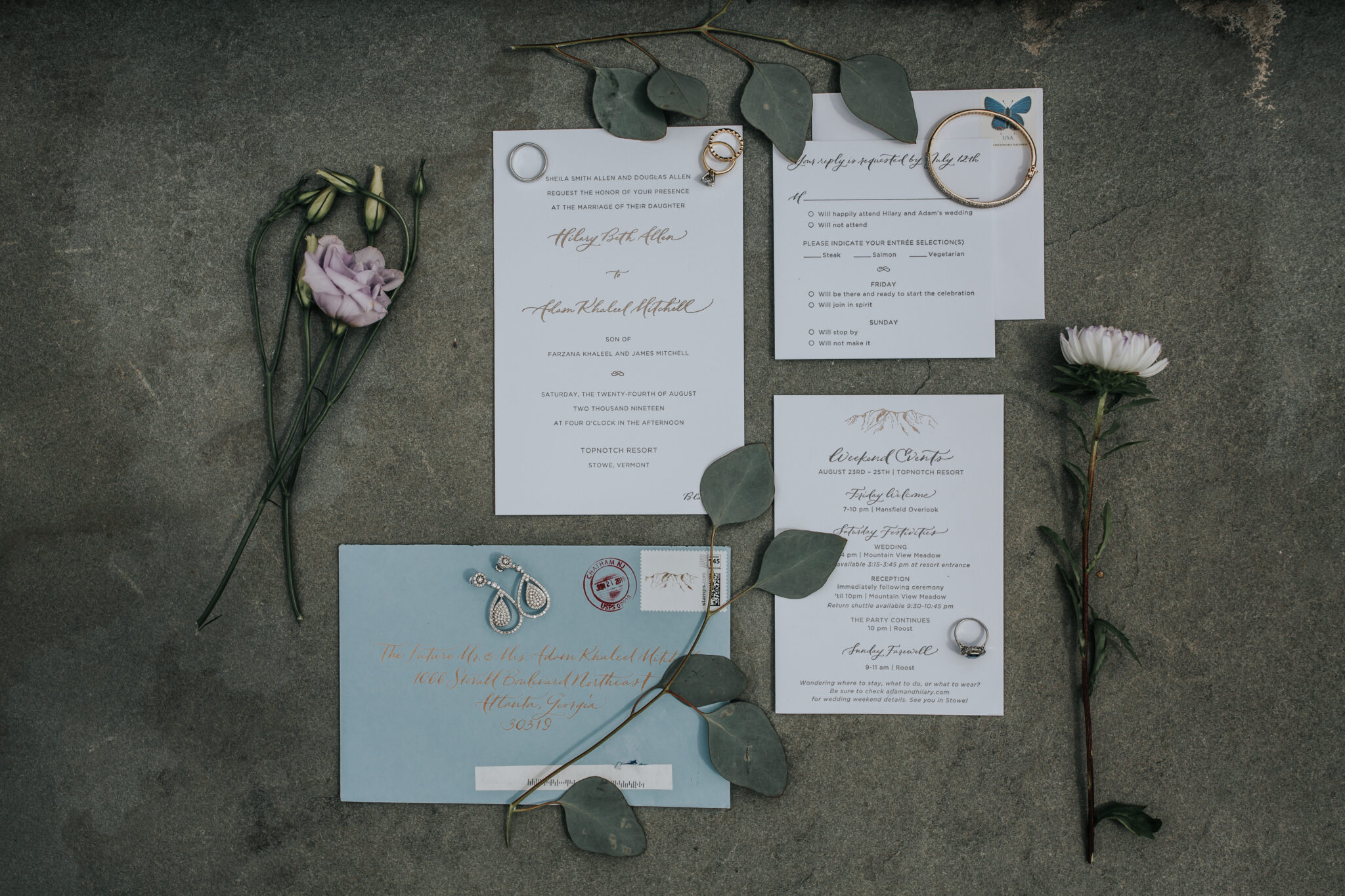 Jaclyn Watson Events • Katie fisher custom wedding invitations