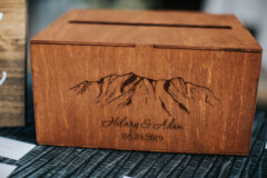 Jaclyn Watson Events • wood wedding card box •New England wedding planner