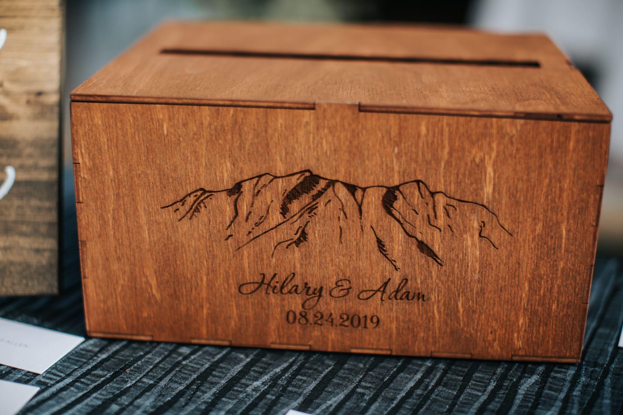 Jaclyn Watson Events • wood wedding card box •New England wedding planner