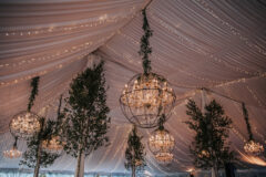 Jaclyn Watson Events • sailcloth full ceiling draping •New England wedding planner