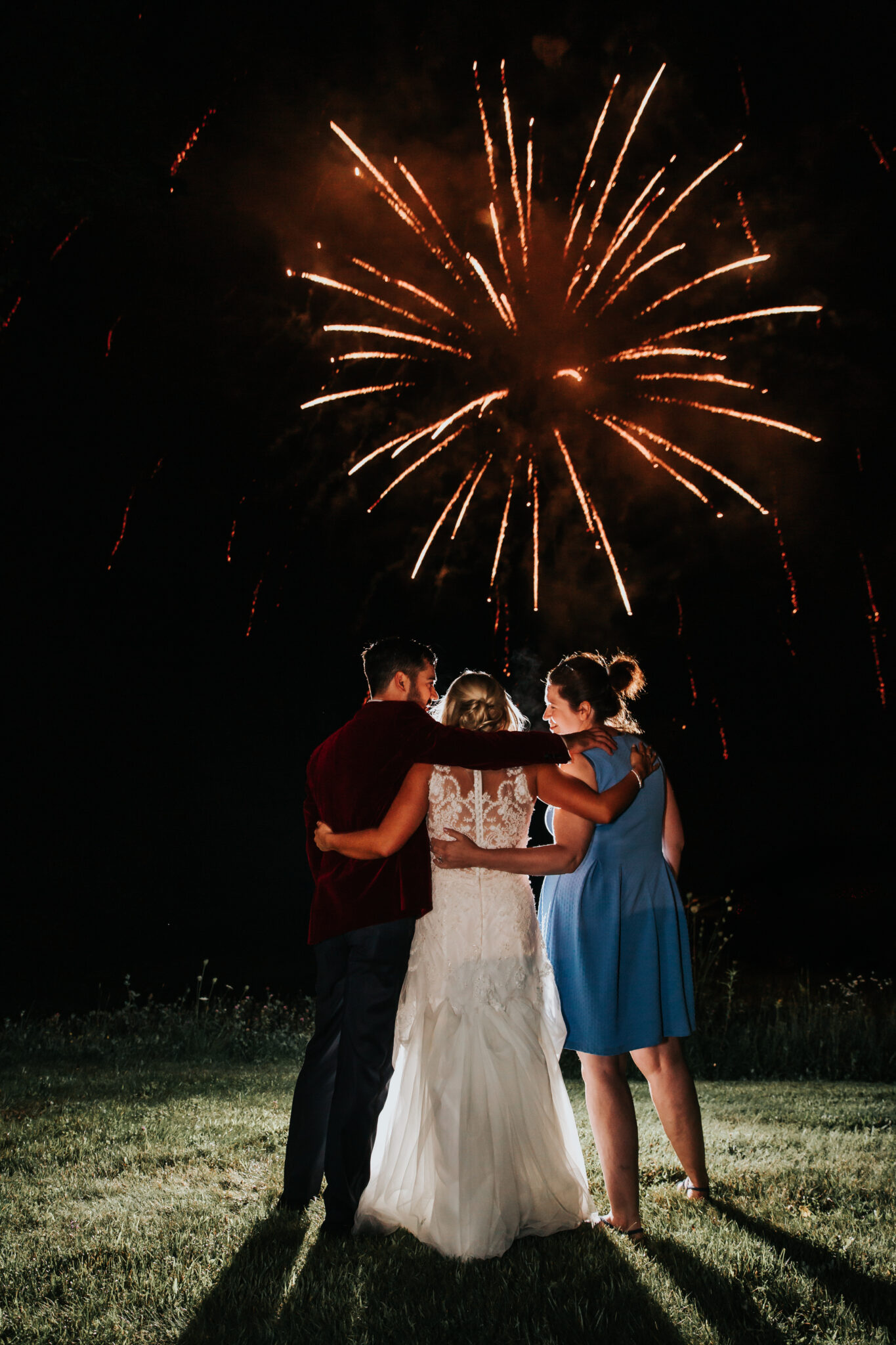 Jaclyn Watson Events • red fireworks •New England wedding planner