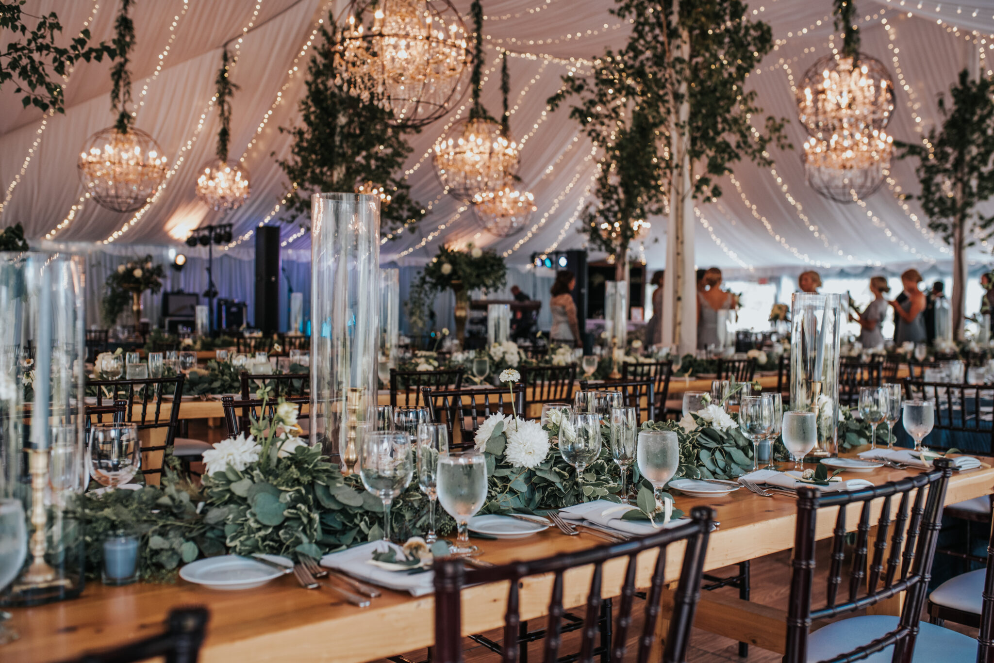 Jaclyn Watson Events • long wedding farm tables •New England wedding planner